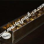جعبه طلایی شکلات با لیبل